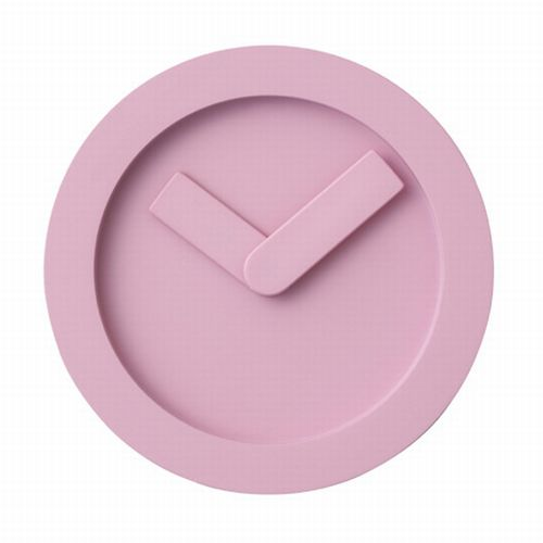 pixel icon pink clock design