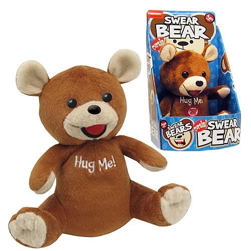 swear teddy bear toy