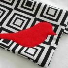 twitter bird red bag design