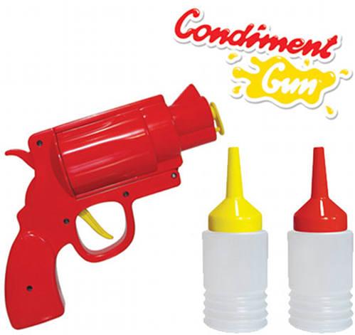 ketchup mustard condiments gun