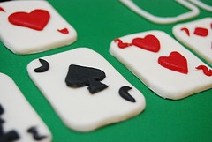 solitaire cake cards