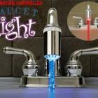 temp controlled faucet light