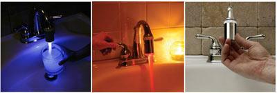 temperature faucet lights