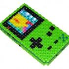 green gameboy color bead work