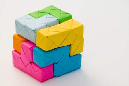 origami soma cube