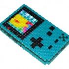 teal gameboy color beadwork