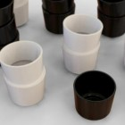stacked cups all