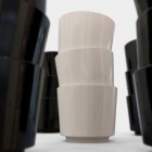stacked cups close up