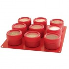 Magnetic Storage Containers Red