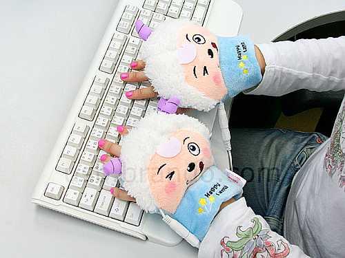 USB Sheep Heating Gloves