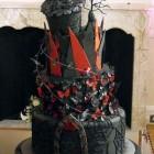 steam punk goth wedding cake