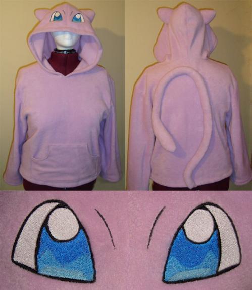 mew pokemon hoodie costume