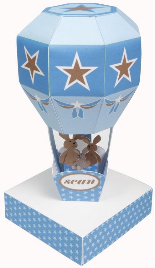 decorative paper train and air balloon3