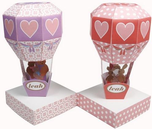 decorative paper train and air balloon4