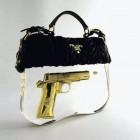 Lethal Gold Gun Handbag