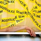 crime scene tape shower curtain design for geeks