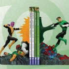 green lantern vs sinestro bookend design comics