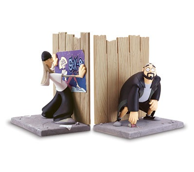 jay and silent bob bookend design