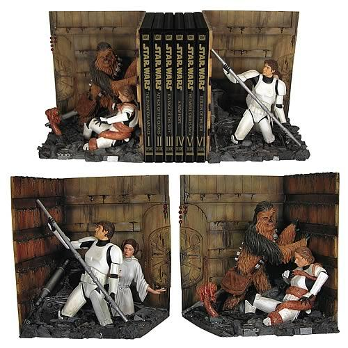 star wars bookends trash compactor