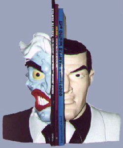 two face batman bookends for comics