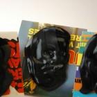 vinyl record beard brooches artwork