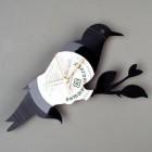 vinyl record bird art