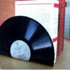 vinyl record bookend design