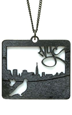 vinyl record necklace artwork 2