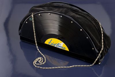 vinyl record purse artwork 1