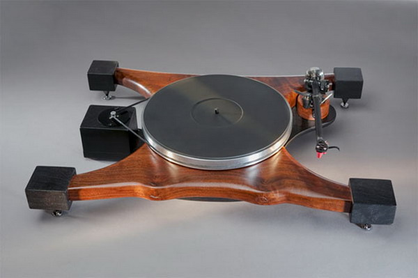 vinyl record wood manta turntable design