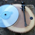 vinyl record wood turntable design