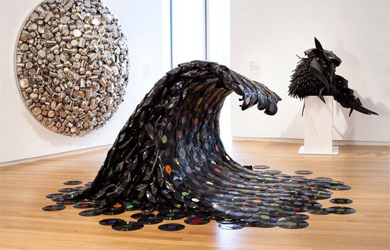 vinyl records wave artwork