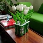 Recycled 6 pack Flower Vase
