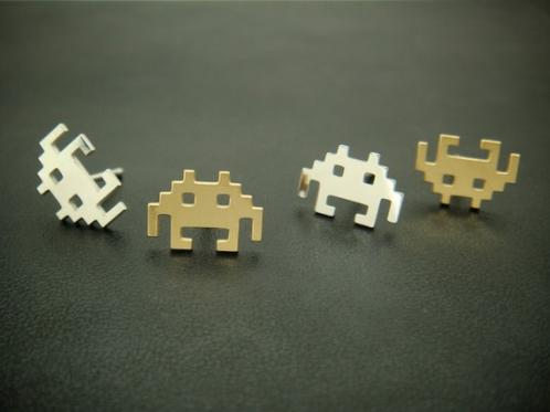 Space Invader Earrings Geeky Alien Ear Wear 3