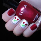 How To Make a Cherries Manicure 5