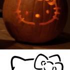 hello kitty Pumpkin Templates Stencils