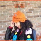 pac man crochet hat