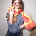 Pepperoni Pizza Scarf 1