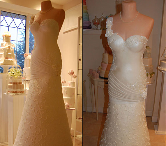 Wedding Gown Made Of Cake
