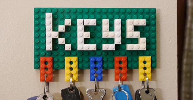 diy creative lego key holder