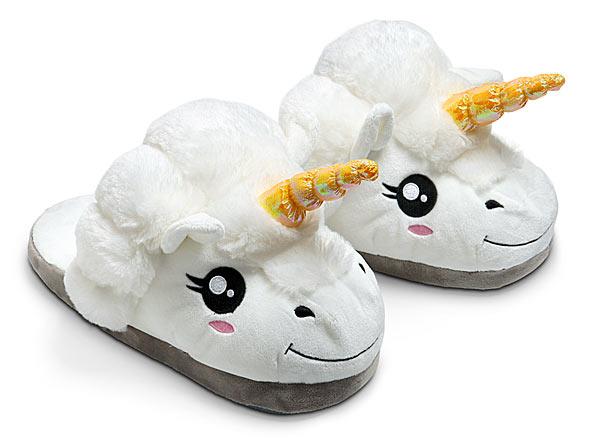 unique  gift Plush Unicorn Slippers