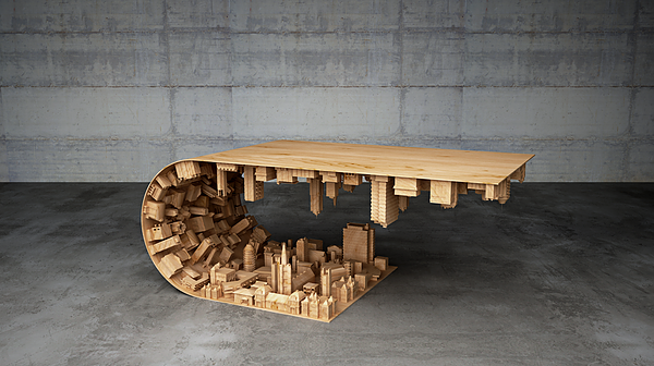 The 'Wave City' Coffee Table