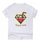 T-Shirt-Short-Sleeve-Printed-Fashion-Diamond