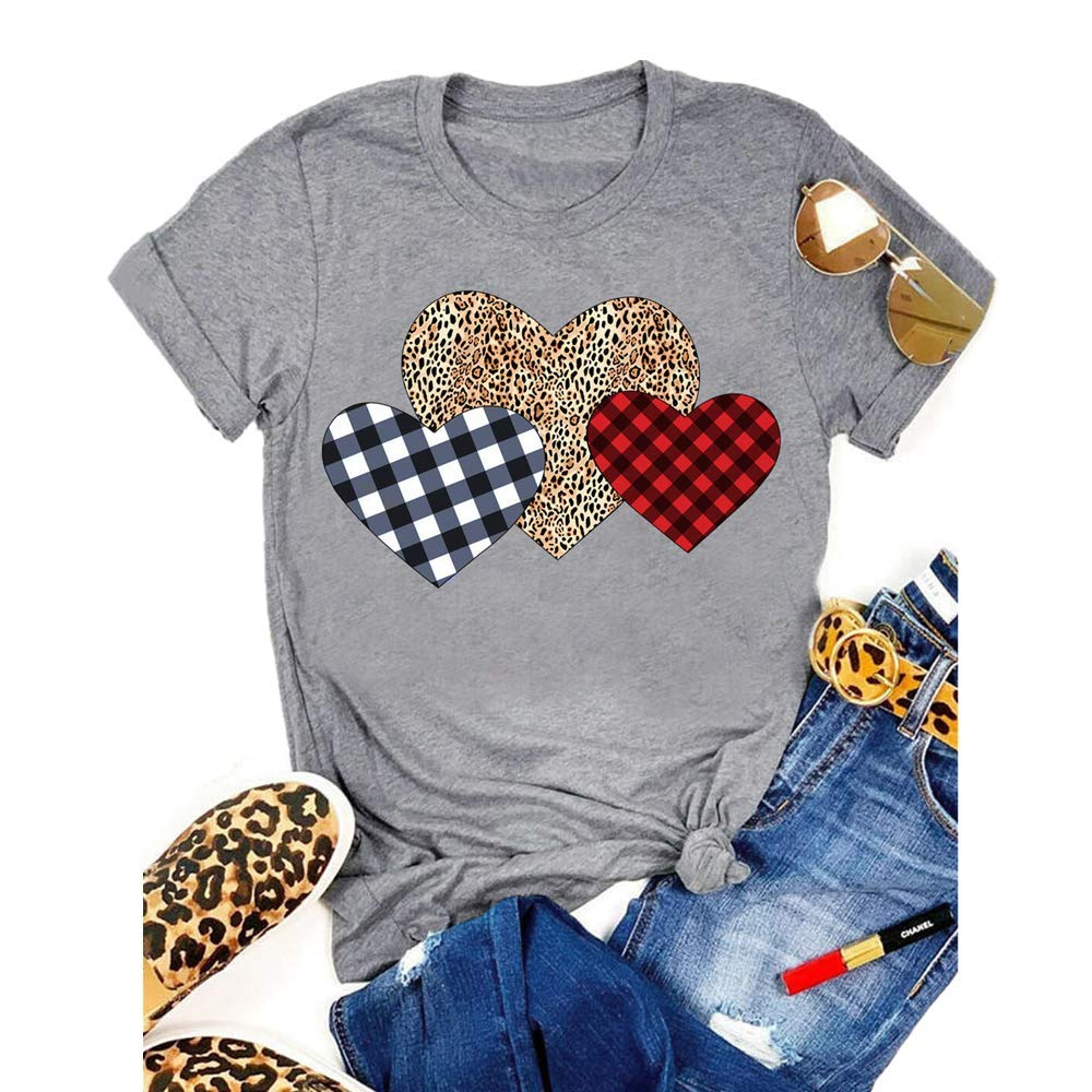 3 hearts women t-shirt for valentine's day
